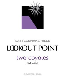 NV Lookout Point Winery Rattlesnake Hills Two Coyotes Red Blend 750 mL *** For more information, visit image link.