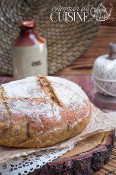 pain en cocotte sans pétrissage aux graines de lin Mets, Food And Drink, Recipes, Flat Bread, Pizza, Table, Cooker Recipes, Stuffed Bread, Pastries