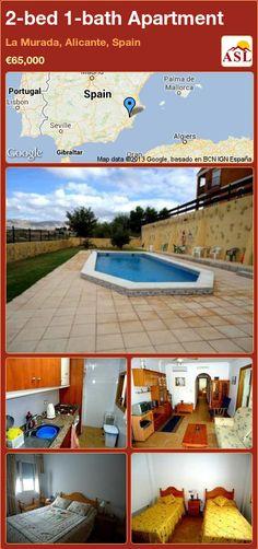 2-bed 1-bath Apartment in La Murada, Alicante, Spain ►€65,000 #PropertyForSaleInSpain