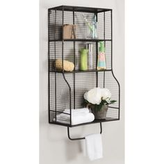 Shelves For Ample Storage.  Hangs On The Wall For Space Saving Storage  Capabilities.  Easily Complements Any Style Décor.