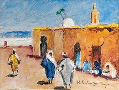 HUGO BACKMANSSON, BASAARIN ULKOPUOLELLA.. - Bukowski, Auction, Landscapes, Painting, Artists, Art, Tangier, Finland, Paisajes