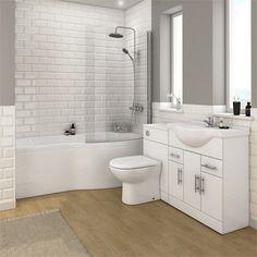 Alaska Bathroom Suite With B-Shaped Shower Bath   Victorian Plumbing