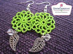 Tutorial 3 . * Orecchini Primavera all'uncinetto * How to do Spring Crochet Earrings - YouTube