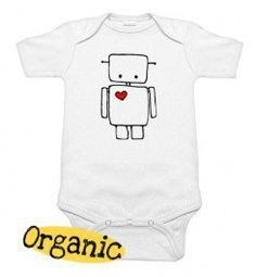 Robot Organic One Piece - Infant Baby One Piece Bodysuit