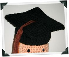 Crocheted Graduation Cap by Abigail Gonzalez