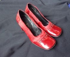 A personal favorite from my Etsy shop https://www.etsy.com/listing/246807808/red-pony-hair-and-red-patent-leather