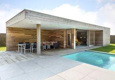 Wood Arts maakt moderne tuinhuizen en andere hout en bij gebouwen, zoals garages, carports en poolhouses. Bel ons nu !