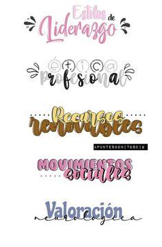 Bullet Journal Mood Tracker Ideas, Bullet Journal Titles, Bullet Journal Banner, Bullet Journal Lettering Ideas, Bullet Journal School, Bullet Journal Inspiration, Hand Lettering Fonts, Lettering Tutorial, Pretty Notes