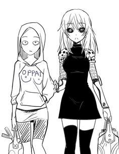 Genos and saitama genderbend! Oh they look so adorable!!!