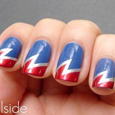 Captain America nail polish!