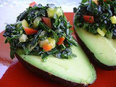 Raw-Food & Stuffed Avocado Recipe (sans the pineapple)