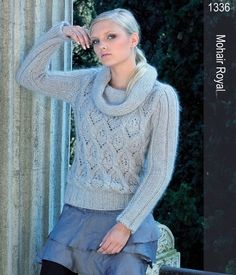 Lana Gatto--Michelle Porter, Editor--Patterned Front Cowl Neck Pullover