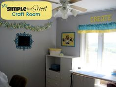 Simple but Sweet Craft Room from Pincushion Creations