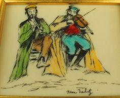 Nesa Treibitz, two Klezmer musicians.