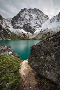 This is from a trip I took in October (my most recent photo outing, sadly) to the Alpine Lakes Wilderness in Washington. The goal was to make it up into the Enchantments, which I would have done by ascending Aasgard Pass, the saddle to the left of th.