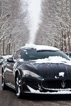 "italian-luxury: ""Maserati playing in the snow """