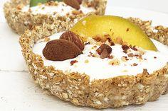 Crostatine d'avena alle mandorle a basso contenuto di grassi. - Delicious