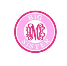 Big Sister Monogram instant download for cutting machines - svg, studio3, studio, dxf, ps, eps (monogram font sold separately)