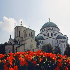 St Sava Church and St Sava Cathedral in Belgrade, Serbia