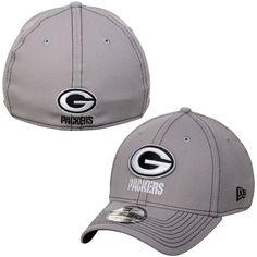 Men's Green Bay Packers New Era Green Logo Crop Neo 39THIRTY Flex Hat