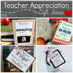 Easy and Creative Teacher Appreciation Gift Ideas on Frugal Coupon Living. Free Classroom Printables, Classroom Decor, Teacher Appreciation Week.