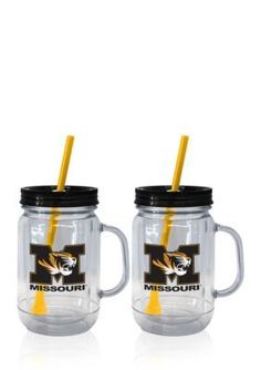 Boelter  20-oz. NCAA Missouri Tigers 2-pack Straw Tumbler with Handle