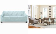 Chloe Velvet Tufted Sofa, Only at Macy's - Couches & Sofas - Furniture - Macy's