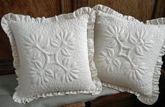 Trapunto Pillows