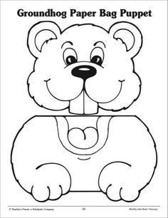 happy groundhog day coloring page for kids winter in preschool