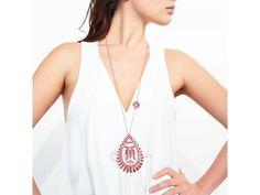 Červený náhrdelník Tulipán. Náhrdelník z kolekce Mileva Tank Tops, Shopping, Clothes, Accessories, Women, Fashion, Moda, Halter Tops, Clothing