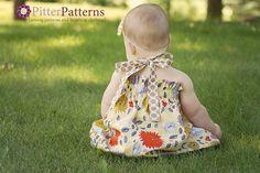 PDF Easy Halter Dress & Top Sewing Pattern Dress Sizes 3m-5T