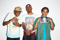 Tyler the Creator, Frank Ocean, and Earl Sweatshirt
