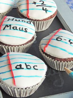 Muffins zum Schulanfang, Muffins, Schule,