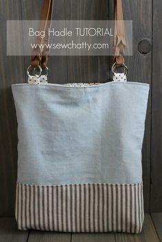 Sew Chatty: {Tutorial} Adding Commercial Handles to Handmade Bags #handmadebag