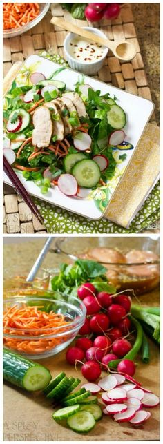 This Vietnamese Chicken Banh Mi Recipe, served as a Vietnamese Salad, is a favorite you can enjoy, even when you're watching your waistline. After t