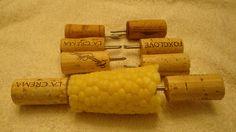 Wine cork corn holders by CrafterByTheBay on Etsy, $6.00