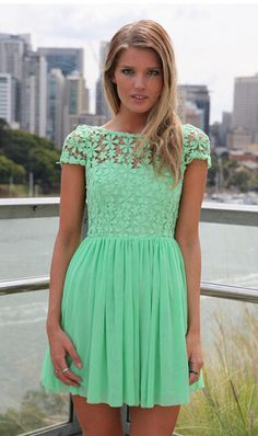 Summer Lace Patchwork Charming Backless Dress