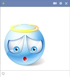 Sweet blue angel smiley