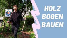 Anleitung um einen Holz Bogen selbst zu bauen. Pfeil und Bogen basteln. #Bogenschießen #Pfeilundbogen #DIY Youtube, Wooden Bow And Arrow, Nature, Tutorials, Projects, Life, Youtubers, Youtube Movies
