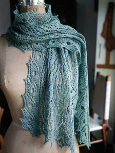 Isadora Scarf Knitting Pattern and more lacy scarf knitting patterns