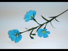 How to make Crepe paper flowers Blue Flax / Linum Perenne (flower # 263) - YouTube
