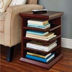 Reader's End Table - I want one of these but in a cherry or warm honey color.