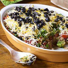 2436045 Seven Layer Dip II Photo by Allrecipes Magazine Potluck Recipes, Appetizer Recipes, Cooking Recipes, Easy Recipes, Dip Recipes, Potluck Dishes, Mexican Recipes, Salad Recipes, Party