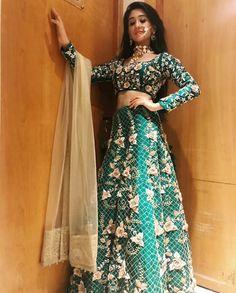 Shivangi Joshi Beautiful HD Photoshoot Stills & Mobile Wallpapers HD - Traditional Fashion, Traditional Outfits, Indian Dresses, Indian Outfits, Indian Frocks, Celebrity Couple Costumes, Celebrity Couples, Ballroom Costumes, Lehenga Designs