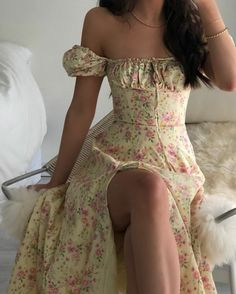 Cute Casual Outfits, Girly Outfits, Pretty Outfits, Pretty Dresses, Beautiful Dresses, Dress Outfits, Fashion Dresses, Cute Floral Dresses, Floral Maxi Dress