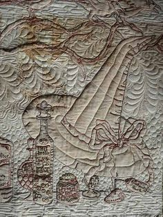 Sewing & Quilt Gallery: Calendula Embroidery Quilt
