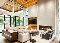 Gallery | Custom Fireplace Design Custom Fireplace, Fireplace Design, Gas Fireplace, Fireplaces, Interior Decorating, Interior Design, Interior Doors, Beautiful Living Rooms, Contemporary Interior