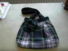 Dress Gordon tartan wool handbag , available from Exclusively Yours.co in Scotland
