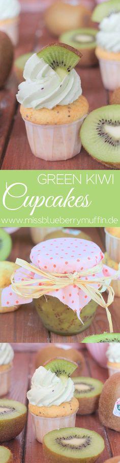 Zespri Green Kiwi Cupcakes // Kiwi Buttercreme <3 #Zespi #ZespriKiwi