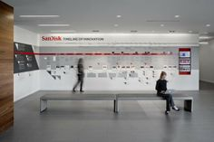 Three Installations @ SanDisk HQ by Lacey Engelke, via Behance timeline od innovation infographics intallation